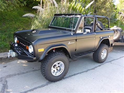 ford bronco for sale near me 73 classic fuel injected matte black ford bronco for sale