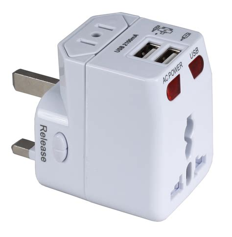 Universal Travel Dual Usb universal travel adaptor door gift malaysia sem marketing