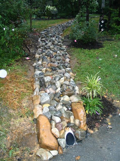 Landscape Rock Drainage Landscaping Drainage With River Rock 187 Backyard And Yard