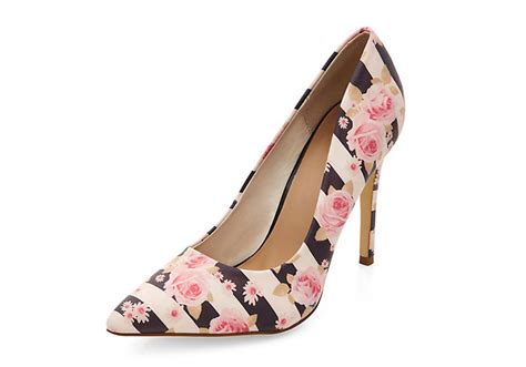 shoe of the day new look pink floral stripe pointed