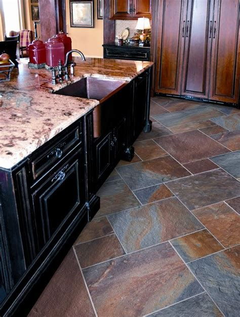 slate kitchen floor slate floor tiles kitchen tile inspirations