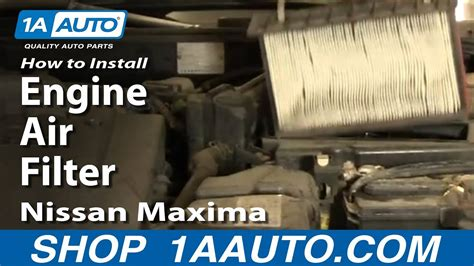 replace install engine air filter nissan maxima
