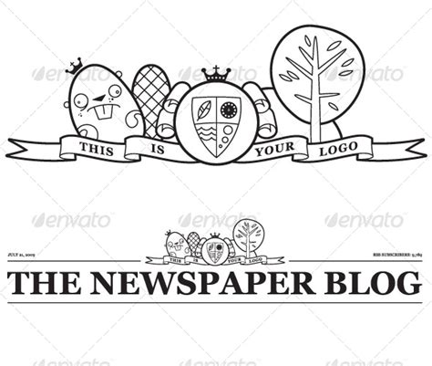 vector newspaper blog header graphicriver