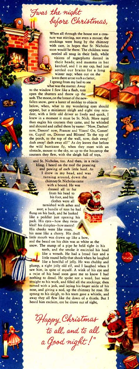 the night before christmas twas the night before christmas poem printable new calendar template site