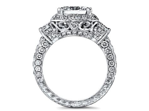 engagement ring emerald cut from mdc diamonds