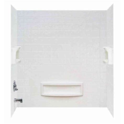 bathtub with walls distinction 32 in x 60 in x 60 in 3 piece easy up