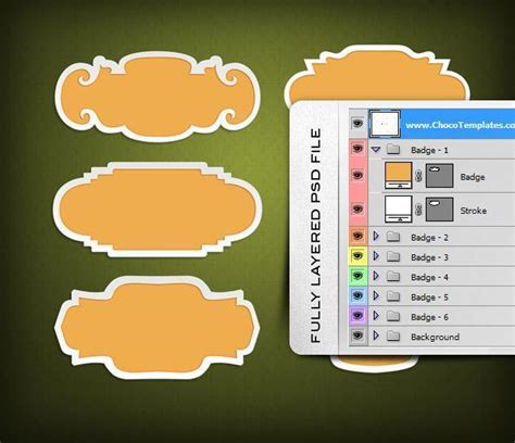 vector label tutorial badge and label vector template with psd file psddude
