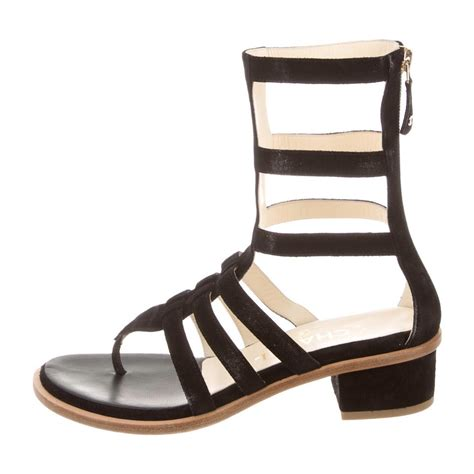 chanel sandals on sale chanel shoes on sale up to 70 at tradesy