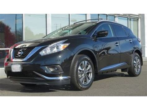 nissan murano 2017 black 2017 nissan murano sl dealer demo black lease busters