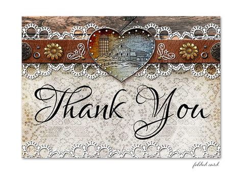 rustic card photography templates rustic barn lace folded thank you card lot paperie