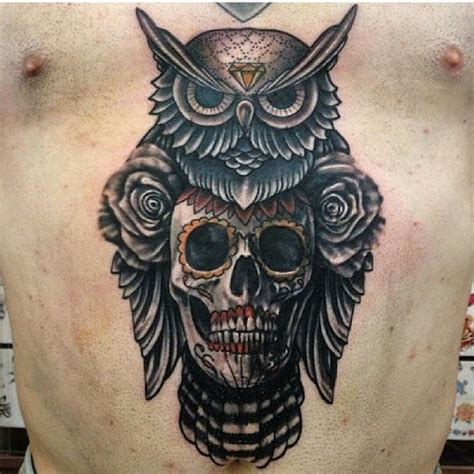 sugar owl tattoo design owl skull tattoos designs ideas and meaning tattoos for you
