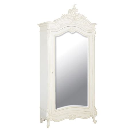 white french armoire chateau french mirrored armoire french armoires white