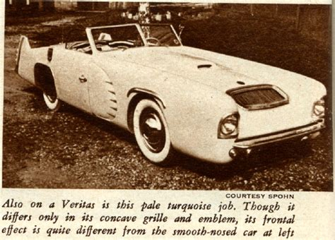 Veritas Auto by The 1949 Spohn Veritas Sports Car Special Pre Auction