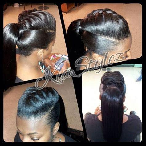 super cute httpwwwblackhairinformationcomcommunity ponytail with braid detail by kiastylez braids tail