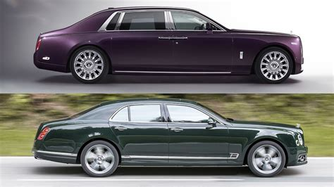 bentley vs rolls royce 2018 rolls royce phantom vs 2017 bentley mulsanne youtube