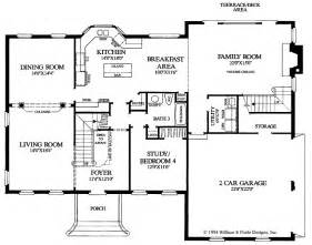 Colonial Style Floor Plans Colonial Floor Plans Of Houses Home Design And Style