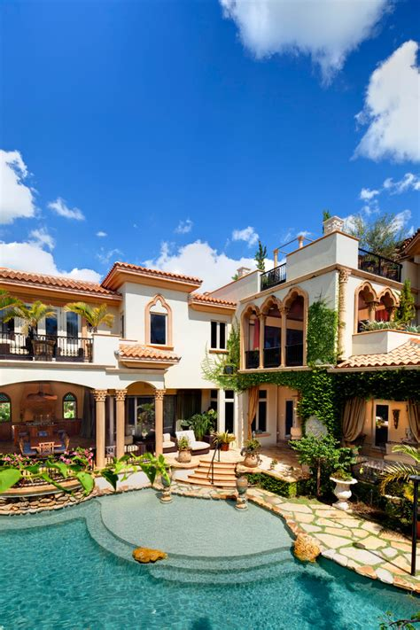 mediterranean pool home tour impeccable mediterranean waterfront home