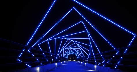 artistic lighting high trestle trail bridge greater des moines public art foundation