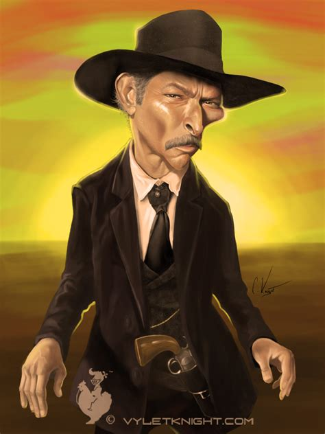 film cowboy lee van cleef lee van cleef caricature caricatures pinterest