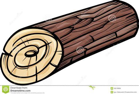 Wooden log or stump cartoon clip art royalty free stock image image