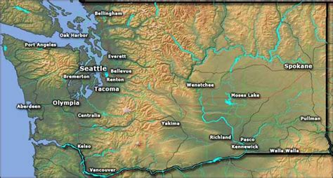 washington dc relief map washington the evergreen state washington