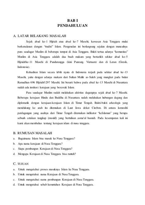 membuat makalah sejarah makalah sejarah quot kerajaan islam di nusa tenggara quot