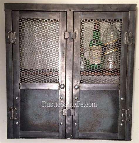 wine rack wall cabinet rustic liquor cabinet reclaimed industrial cabinet