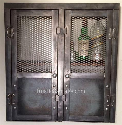 rustic liquor cabinet reclaimed industrial cabinet