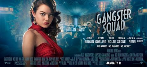 2013 film with emma stone emma stone gangster squad movie posters