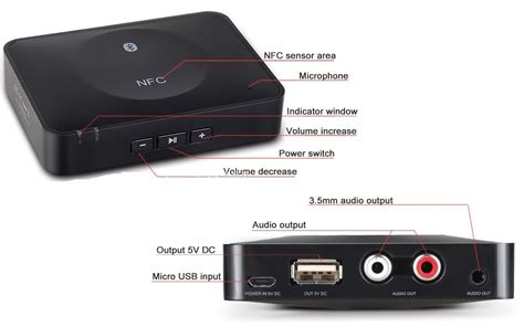 wireless bluetooth audio receiver bluetooth to 2 x