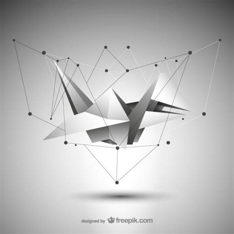 Origami Graphic - abstract origami vector free