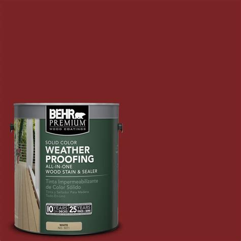 behr premium 8 oz sc112 barn solid color waterproofing stain and sealer sle 501316