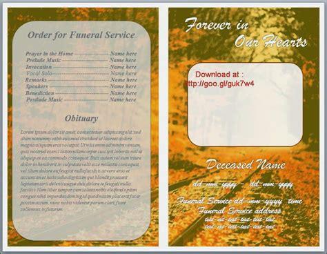 free funeral memorial order of service programs template