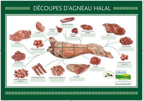 2206033216 la decoupe des viandes de nos produits halal viande de bœuf et d agneau britannique