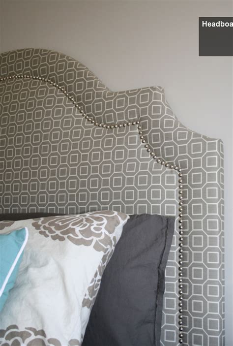 diy upholstered headboard the shape of this one