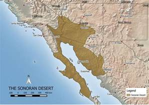 desert map sonoran desert map world maps enviro map