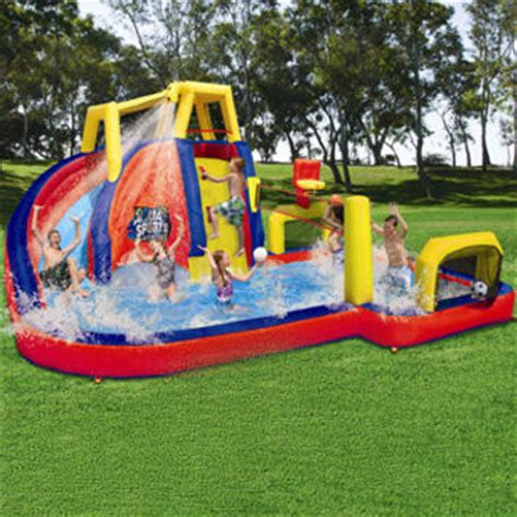 backyard water slides for inflatable backyard water slides banzai from
