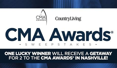 country living sweepstakes countryliving cma awards 2018 sweepstakes win free tickets sweepstakesbible