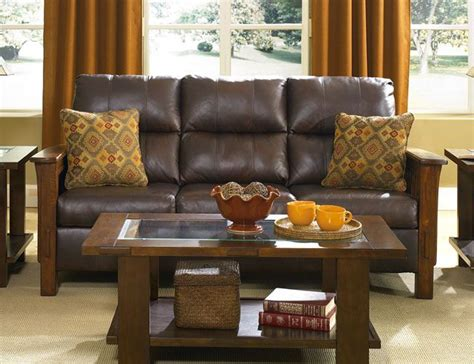 mission style leather couch 1000 images about living room on pinterest italian