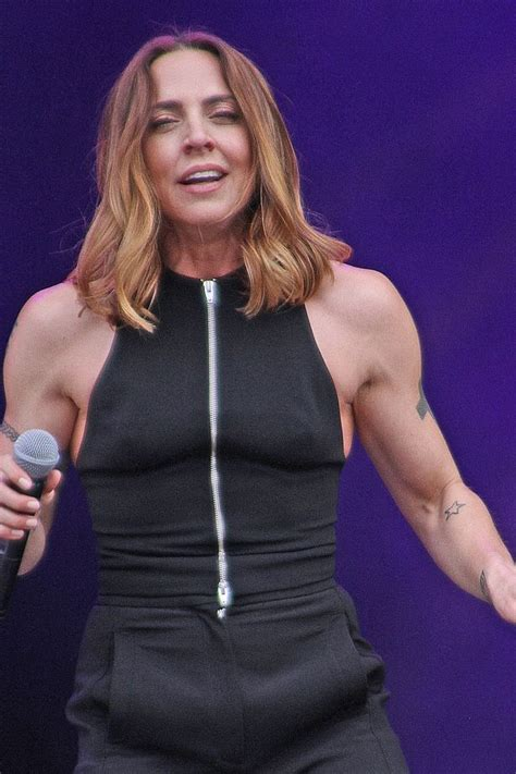 madonna arms muscly mel c looks the spitting image of madonna as she