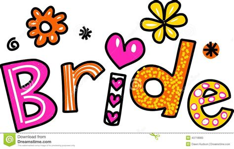 June Wedding Clipart by Mr Text Clipart