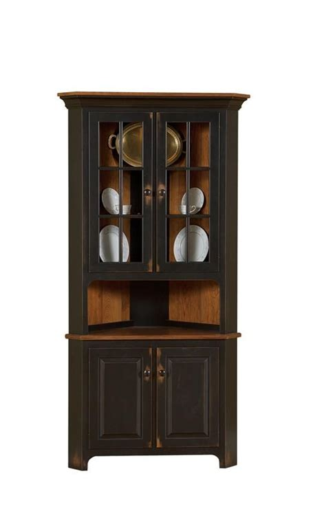 Corner Cabinet Dining Room Furniture 74 Best Amish Corner Hutches Images On Pinterest Corner Hutch Amish Furniture And Corner Cabinets