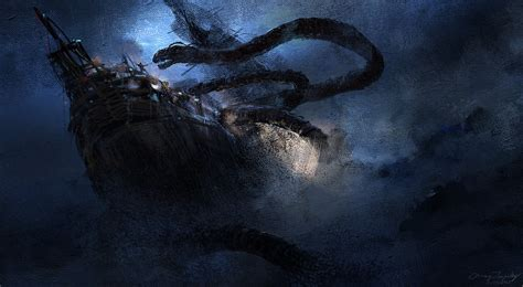 The Great Sea Serpent sea serpent by artofchirag on deviantart