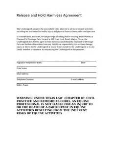 release and hold harmless agreement template hold harmless agreement printable hold harmless