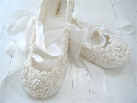 brautschuhe ballerinas ivory ivory ballet flats wedding shoes bridal ballet flats by