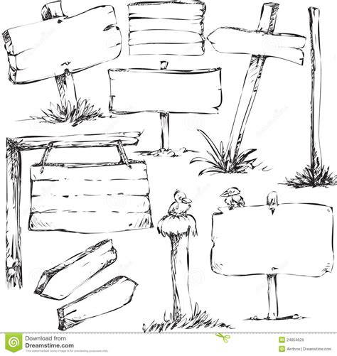sign in to doodle sketches of sign boards royalty free stock images image