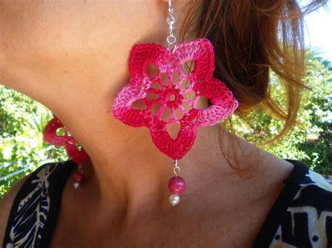 orecchini uncinetto fiore orecchini fiore velocissimi alluncinetto modello 2