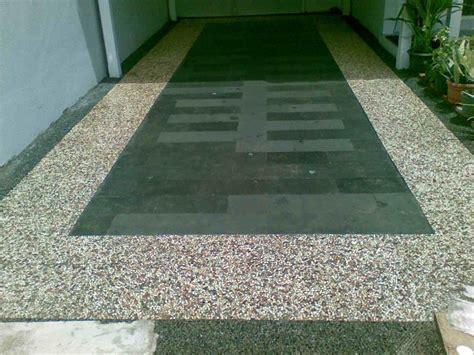 contoh keramik lantai garasi mobil dekorumah