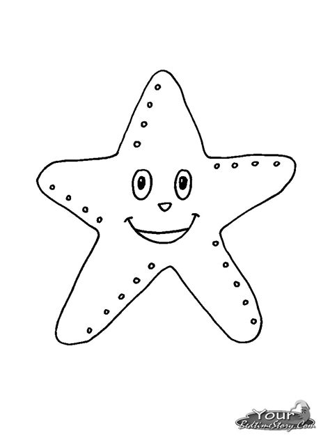 starfish coloring pages for tracing coloring pages