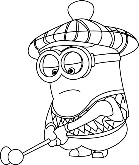 coloring book cr despicable me golfer minion coloring pages cr on r of a